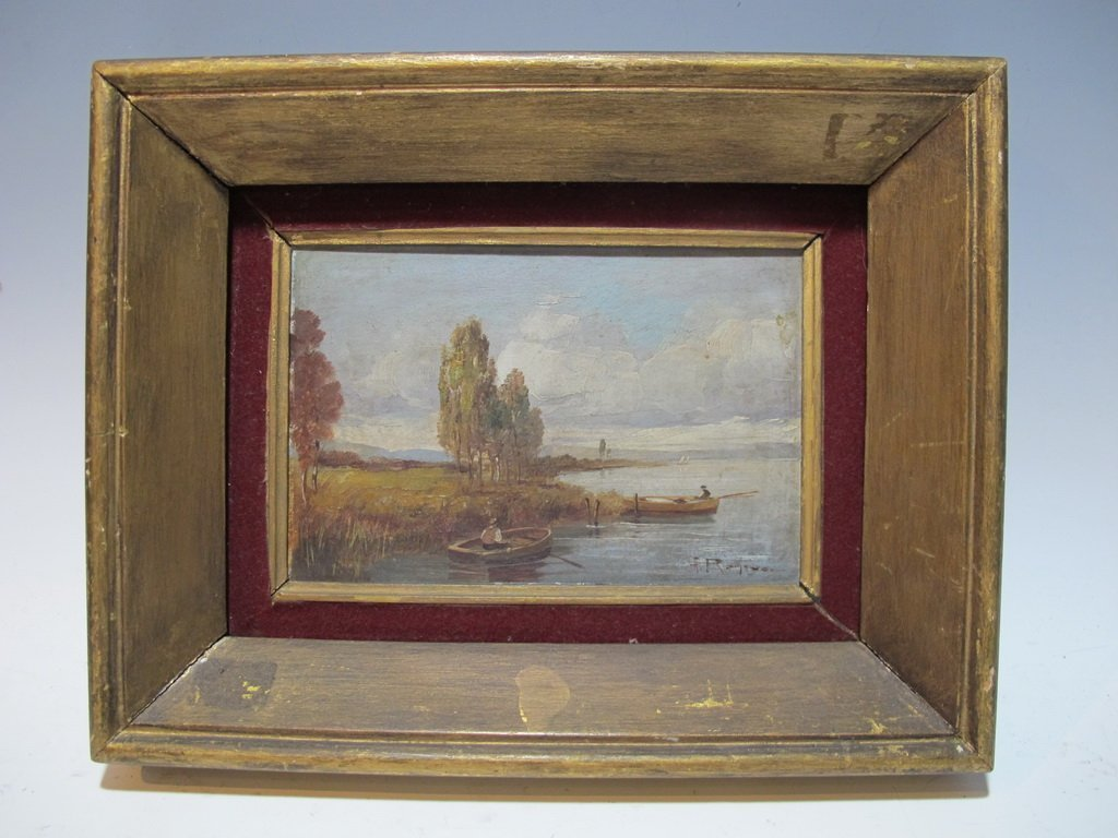 Antique Italian painting, signed A. ROMANO