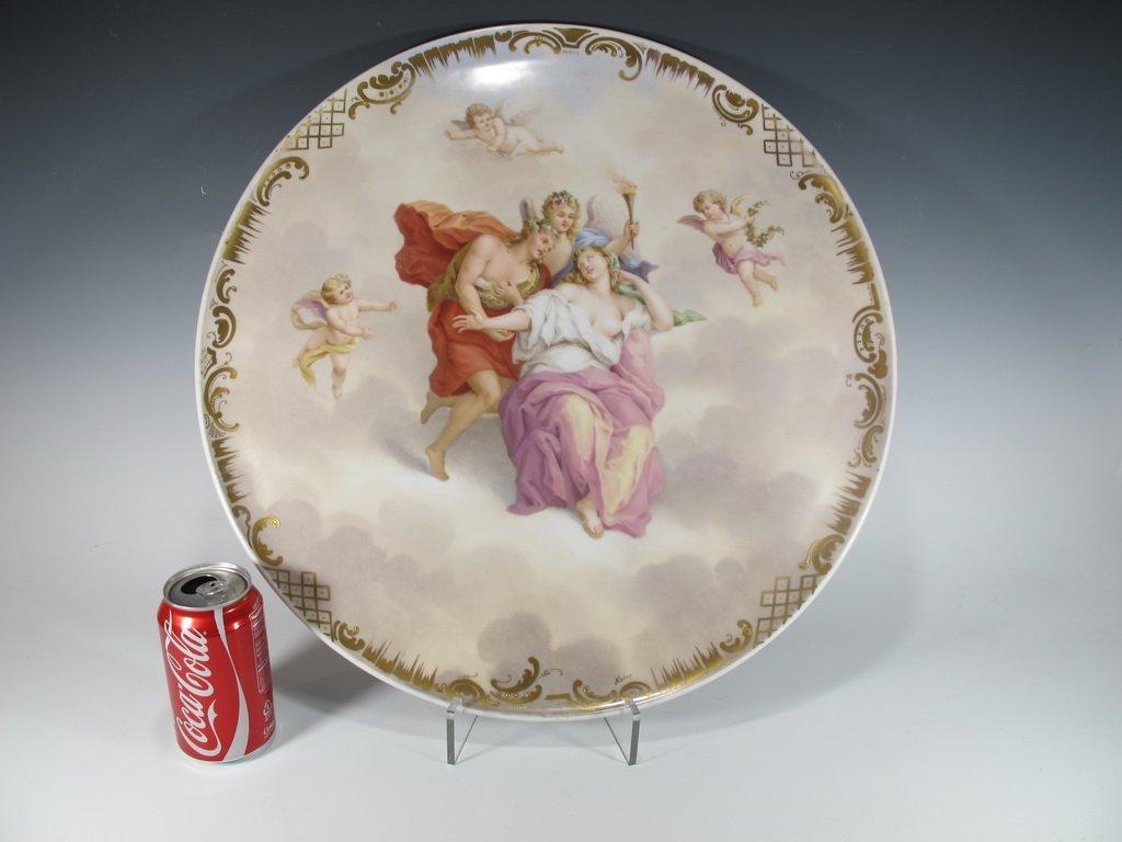 Huge Antique Vienna large porcelain plate