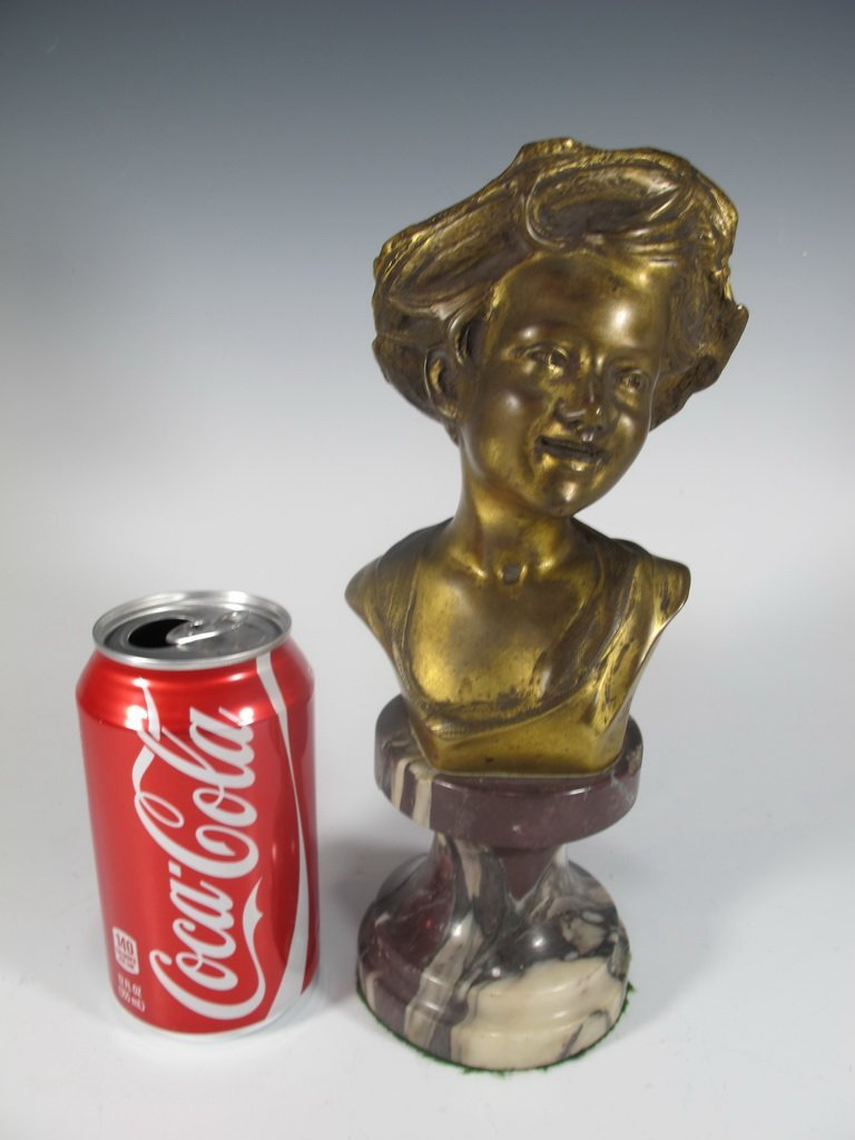 Giovani DE MARTINO (1870-1938) bronze bust