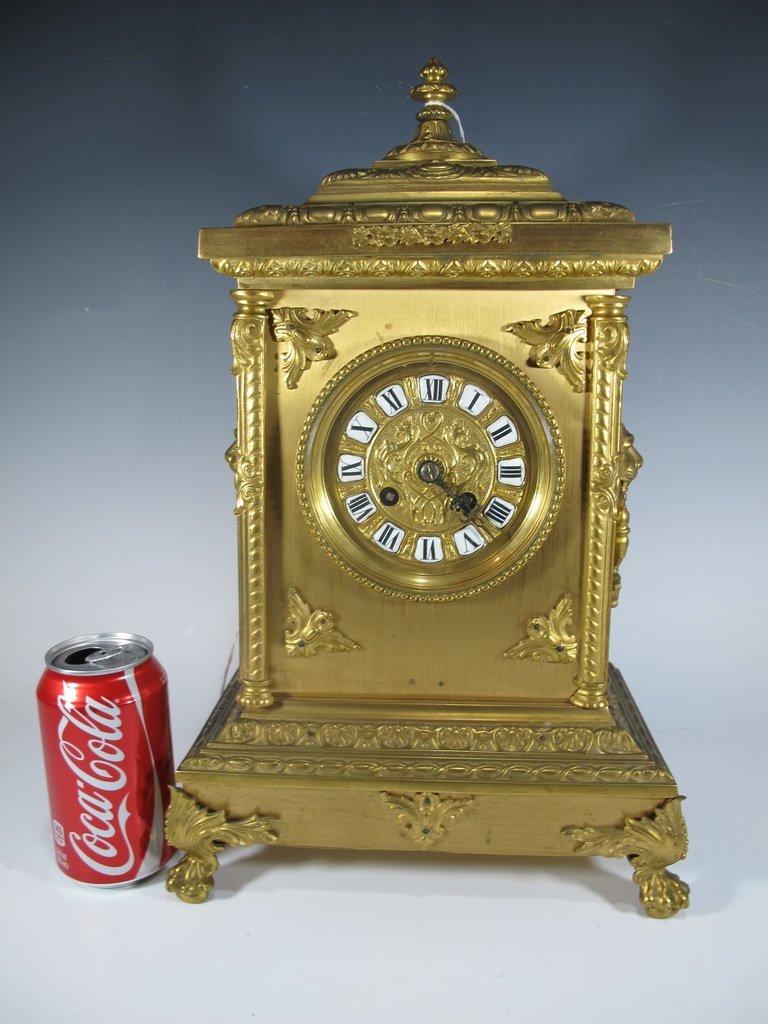 Antique French Marti bronze clock