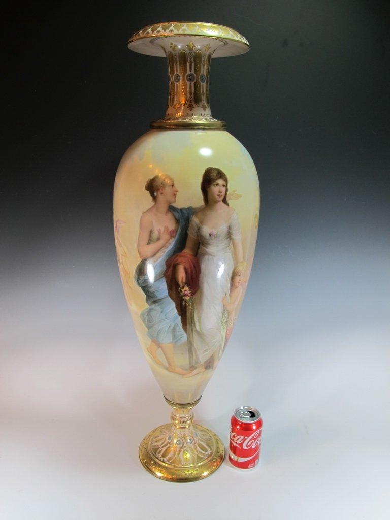 Huge Antique Royal Vienna porcelain urn