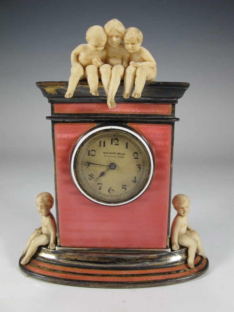 Probably Alfred HOF clock retailed by by Walser, Wald &