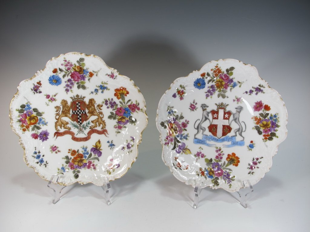 French Limoges pair of porcelain plates