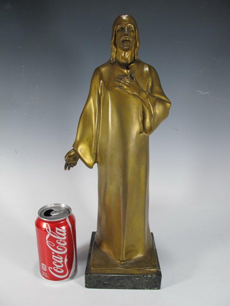 Hans MULLER (1873-1937)  Chrystus  bronze sculpture