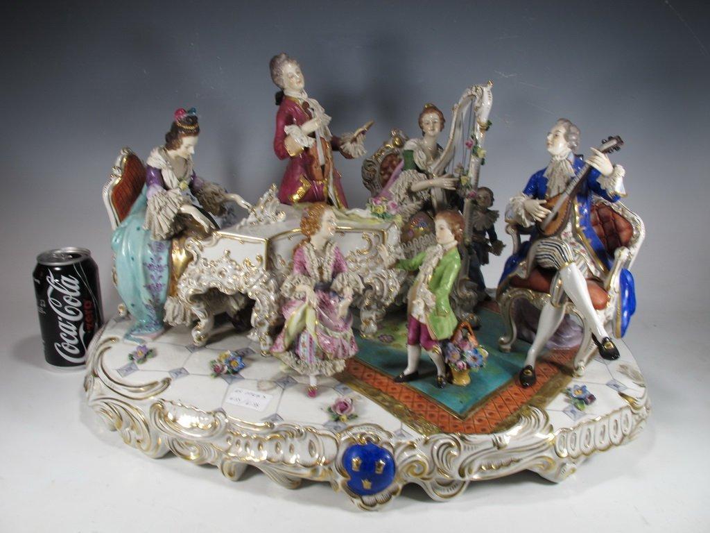 Antique German Vollstedt porcelain group