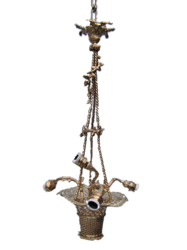 Antique French gilt bronze chandelier