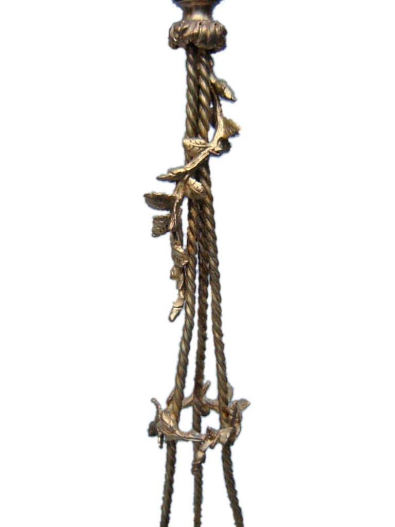 Antique French gilt bronze chandelier - 3