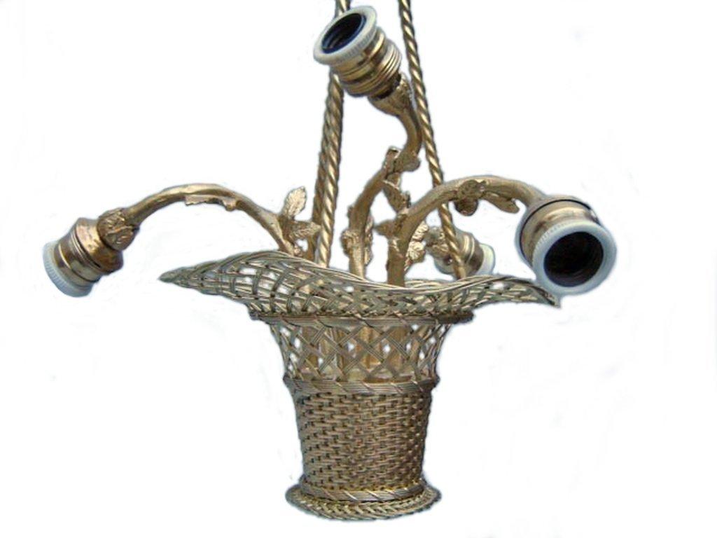 Antique French gilt bronze chandelier - 5