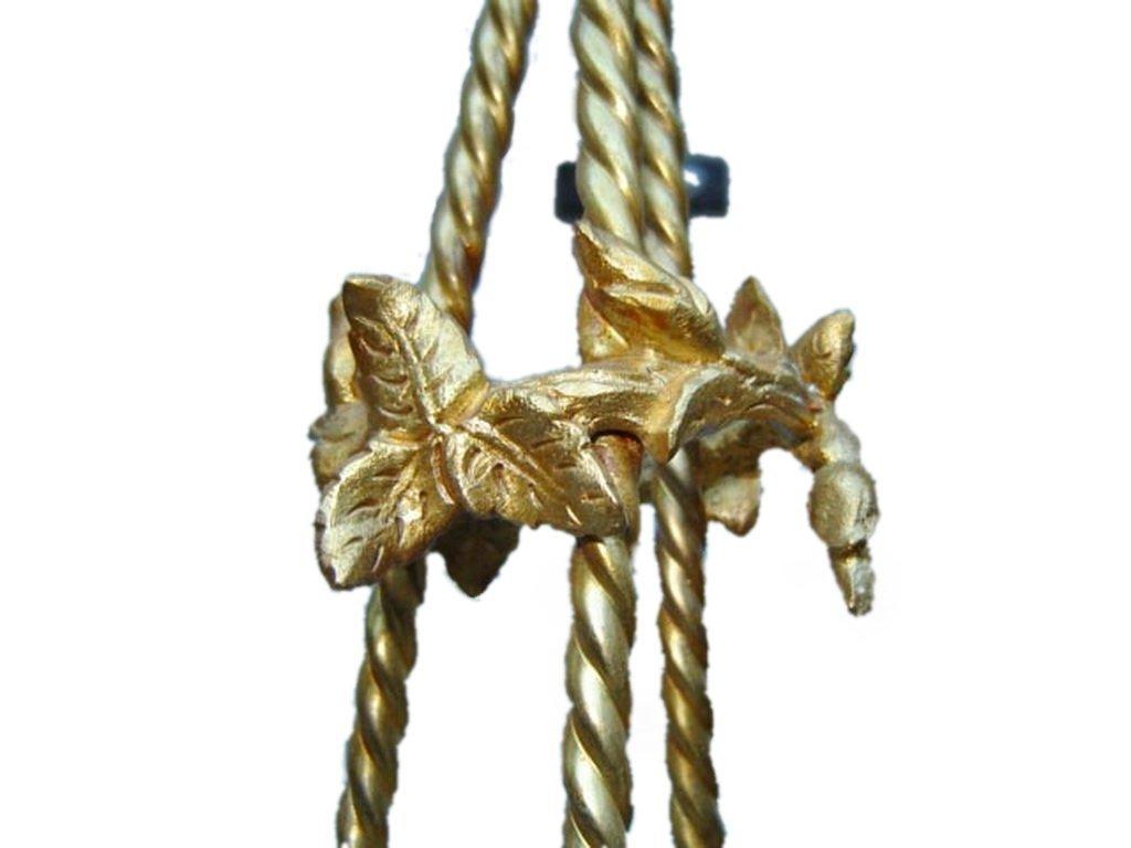 Antique French gilt bronze chandelier - 6