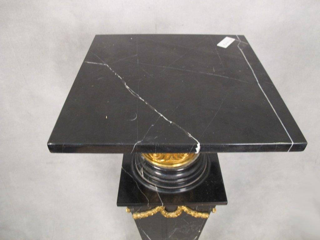 Antique French gilt bronze & marble pedestal - 2