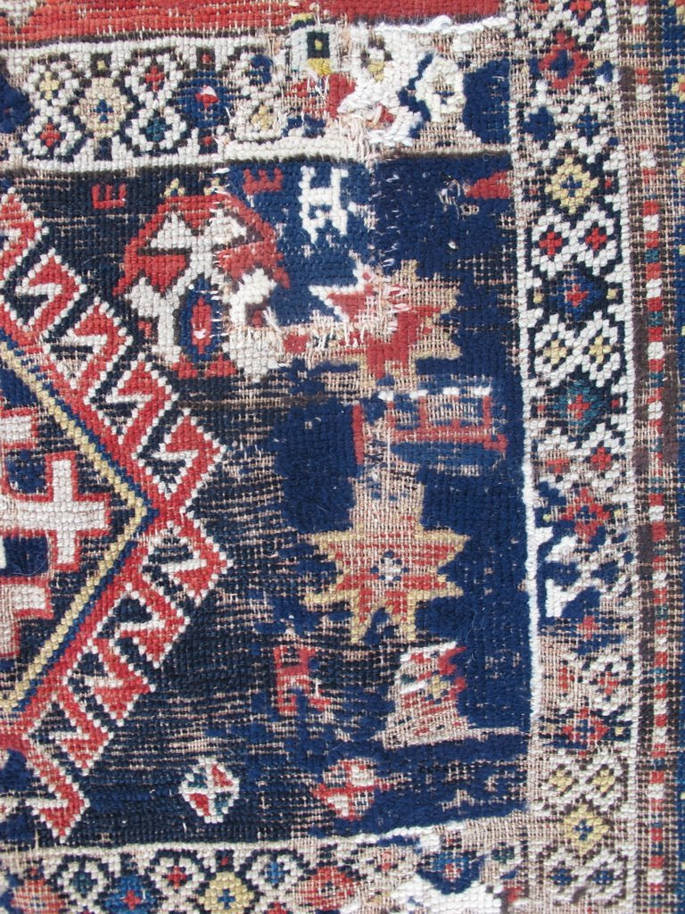 Antique probably Russian rug, dated 1889 - 3