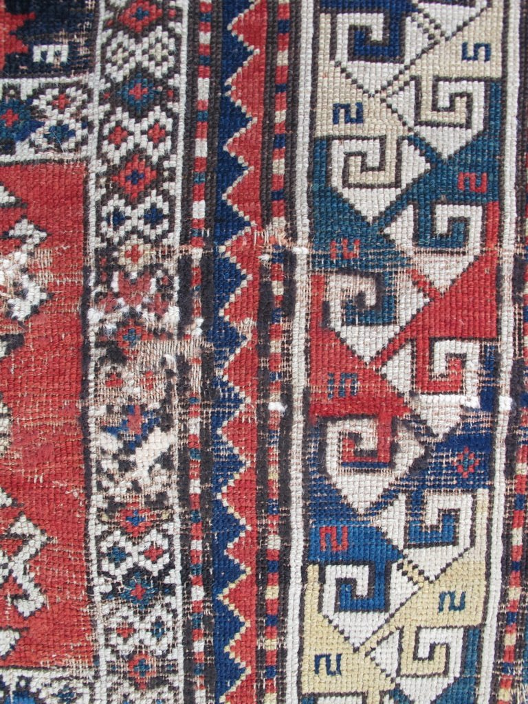 Antique probably Russian rug, dated 1889 - 6