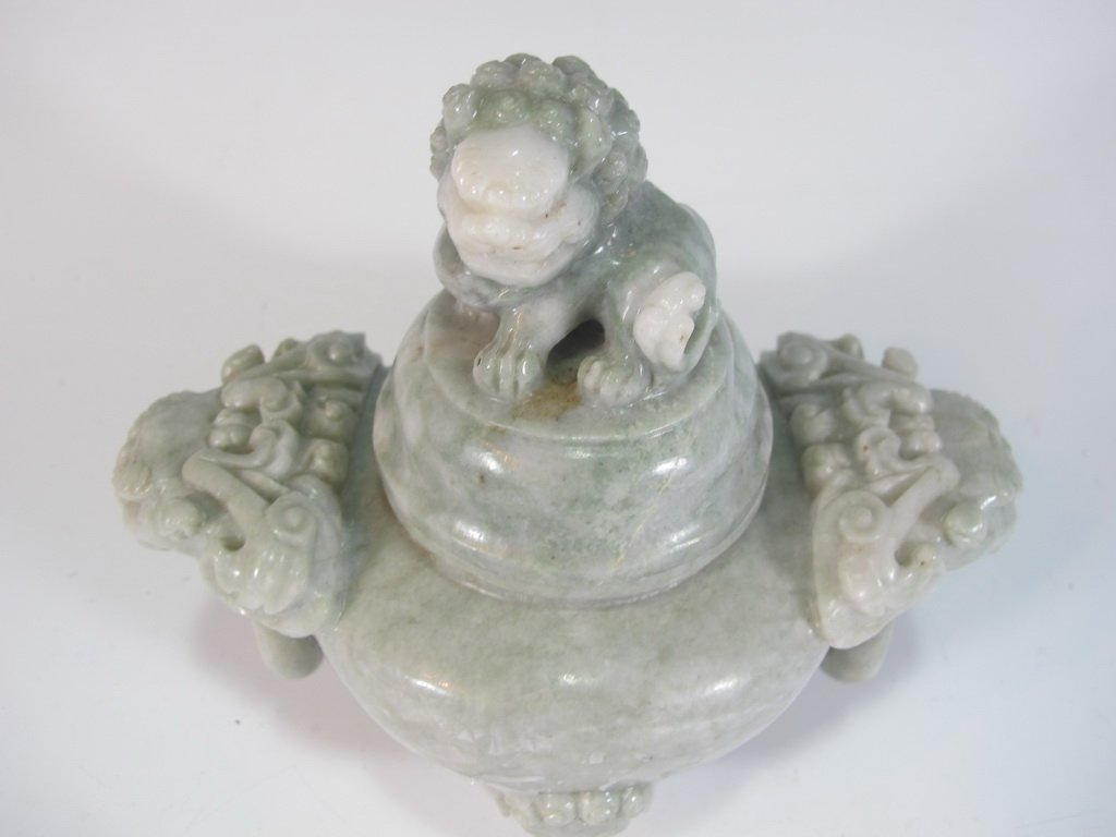 Vintage Chinese hard stone censer - 2