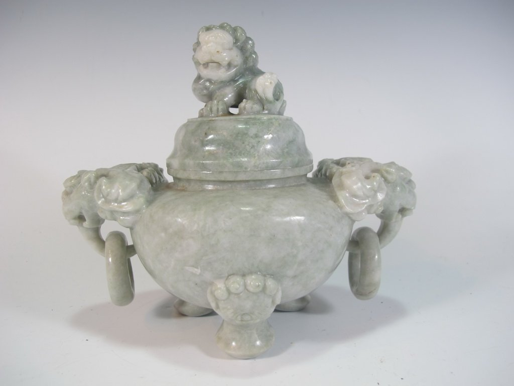 Vintage Chinese hard stone censer - 3