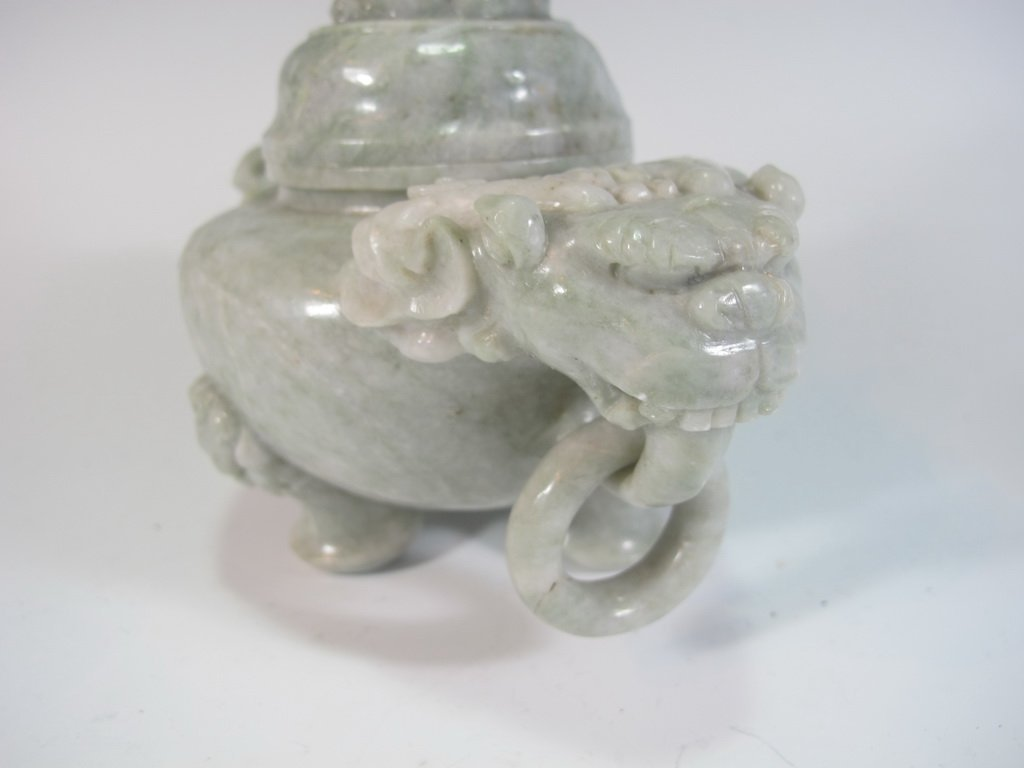 Vintage Chinese hard stone censer - 4