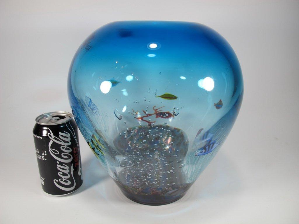 Italian OGGETTI murano glass aquarium vase