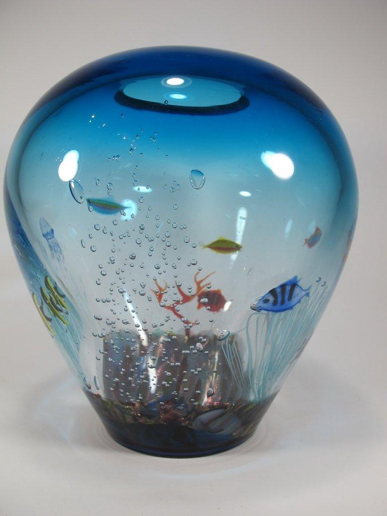 Italian OGGETTI murano glass aquarium vase - 2