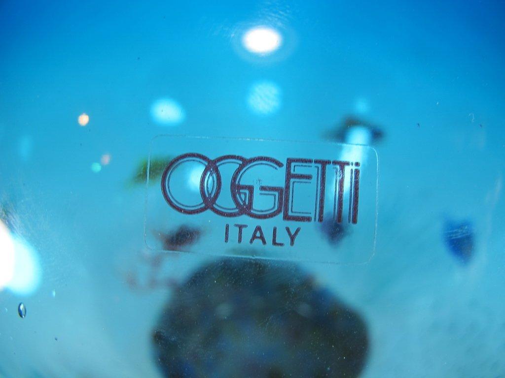 Italian OGGETTI murano glass aquarium vase - 6