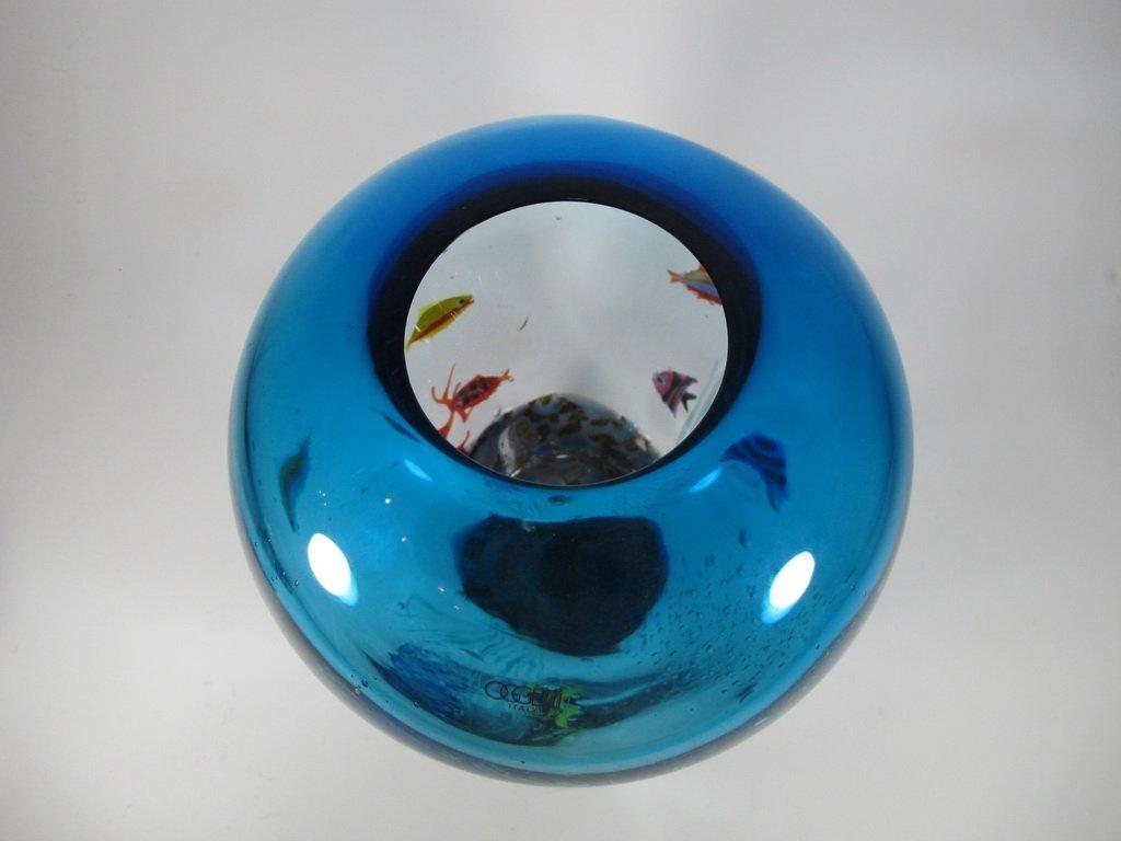 Italian OGGETTI murano glass aquarium vase - 7