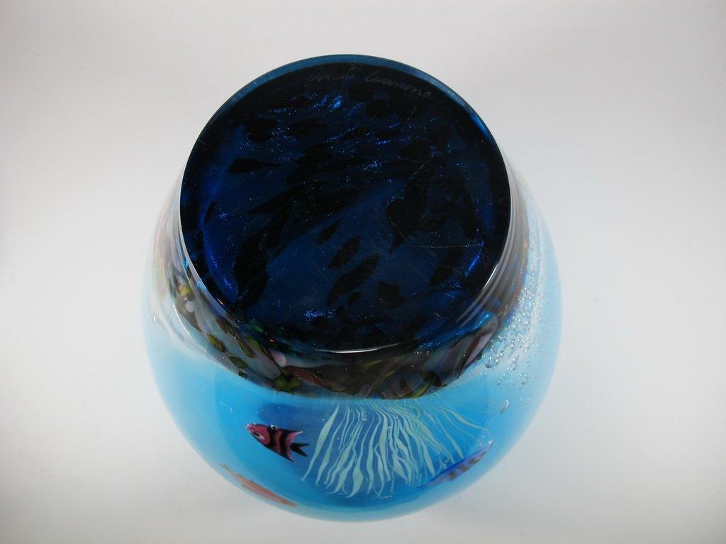 Italian OGGETTI murano glass aquarium vase - 8