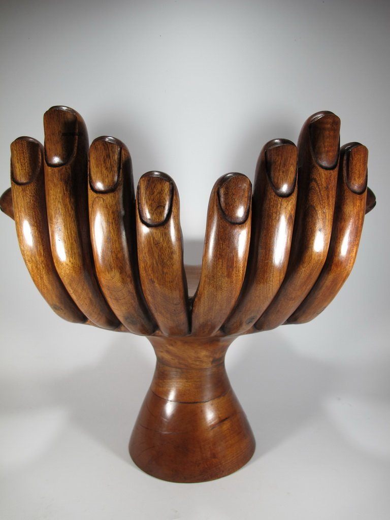 Pedro FRIEDEBERG hand carved wood small chair - 5