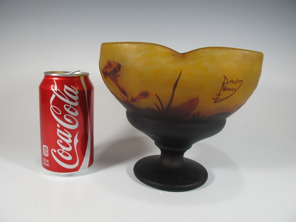 Antique Daum Nancy Cameo Glass Vase