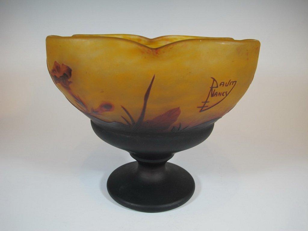 Antique Daum Nancy Cameo Glass Vase - 2