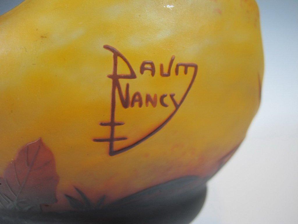 Antique Daum Nancy Cameo Glass Vase - 4