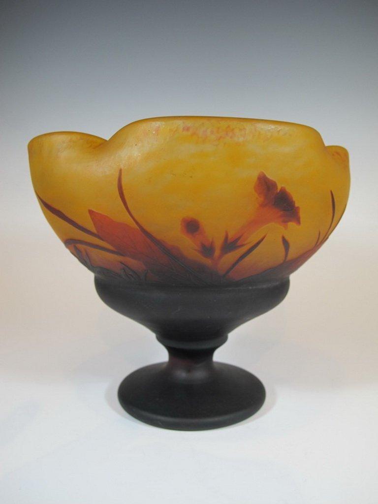 Antique Daum Nancy Cameo Glass Vase - 6