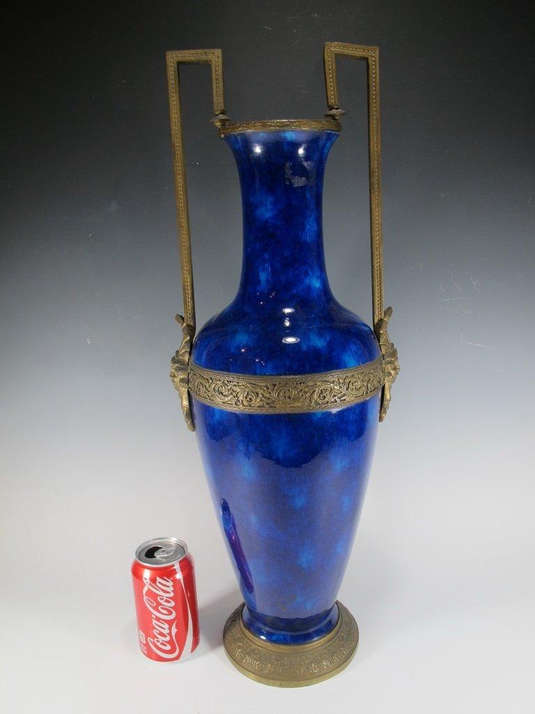 Art deco French Sevres porcelain & bronze urn