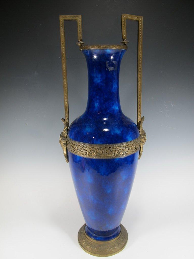 Art deco French Sevres porcelain & bronze urn - 2