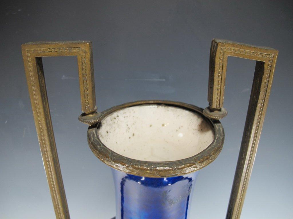Art deco French Sevres porcelain & bronze urn - 3