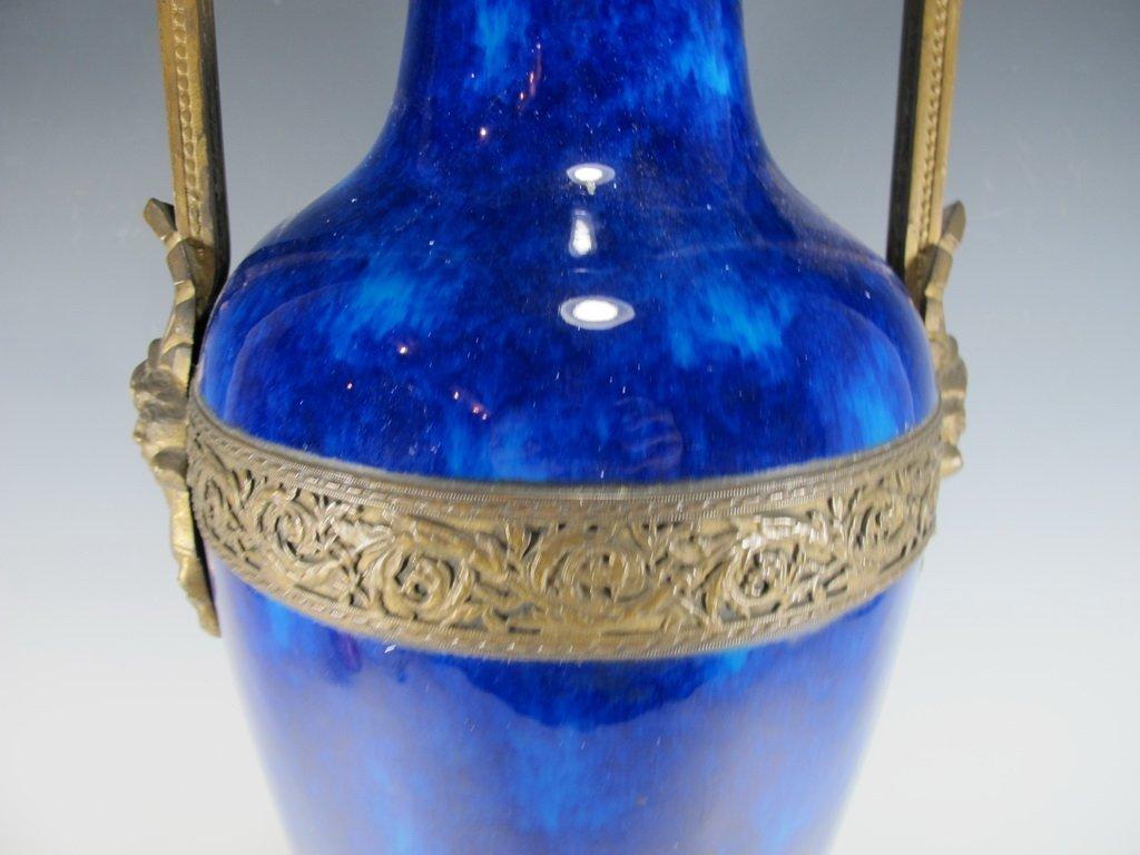 Art deco French Sevres porcelain & bronze urn - 4