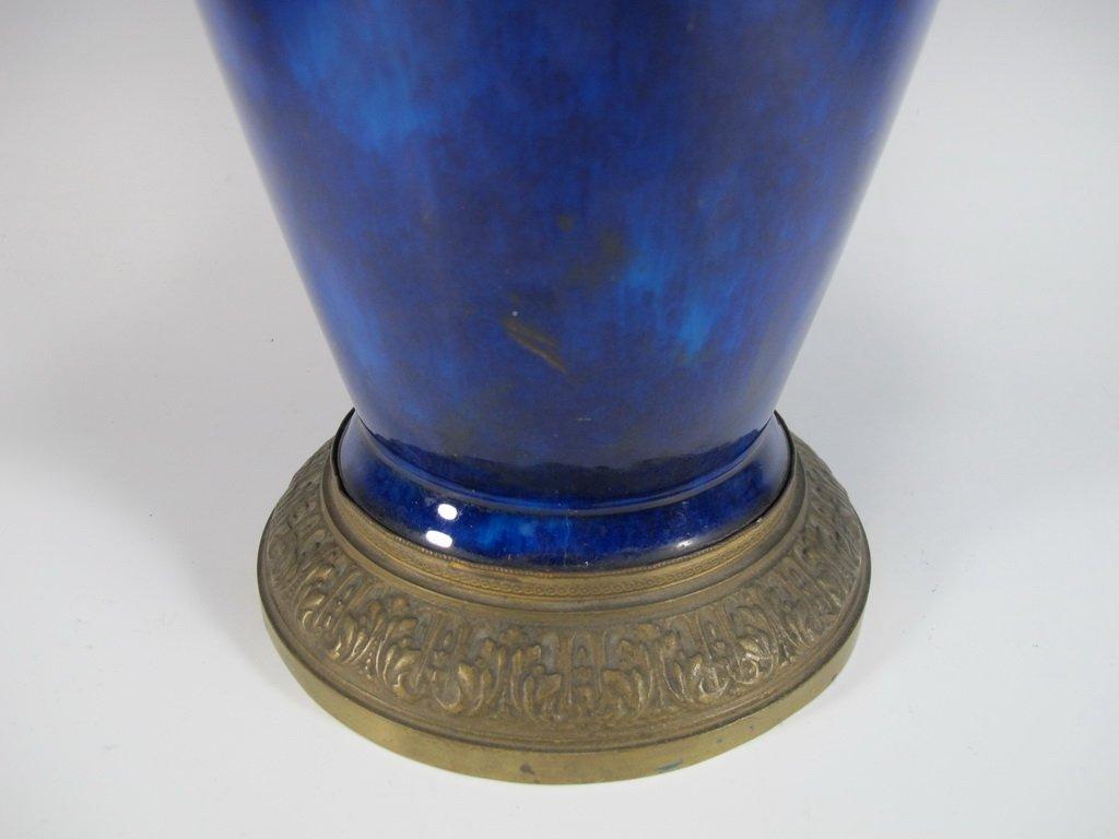 Art deco French Sevres porcelain & bronze urn - 5