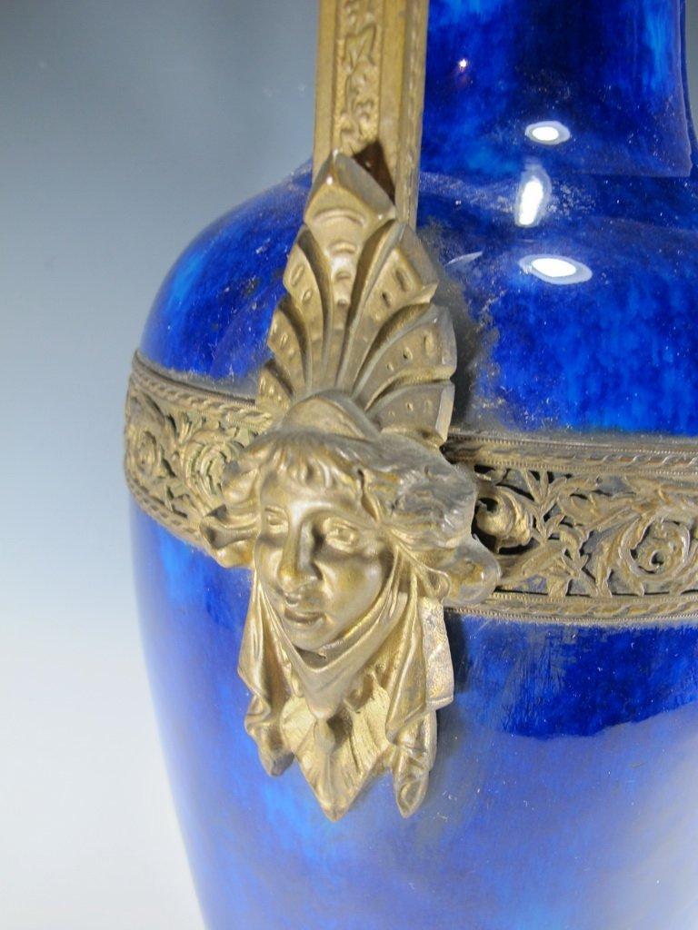 Art deco French Sevres porcelain & bronze urn - 6
