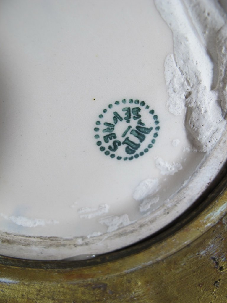 Art deco French Sevres porcelain & bronze urn - 8