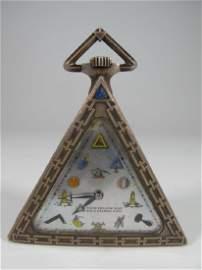 Swiss Masonic sterling watch, Schwab Loellie