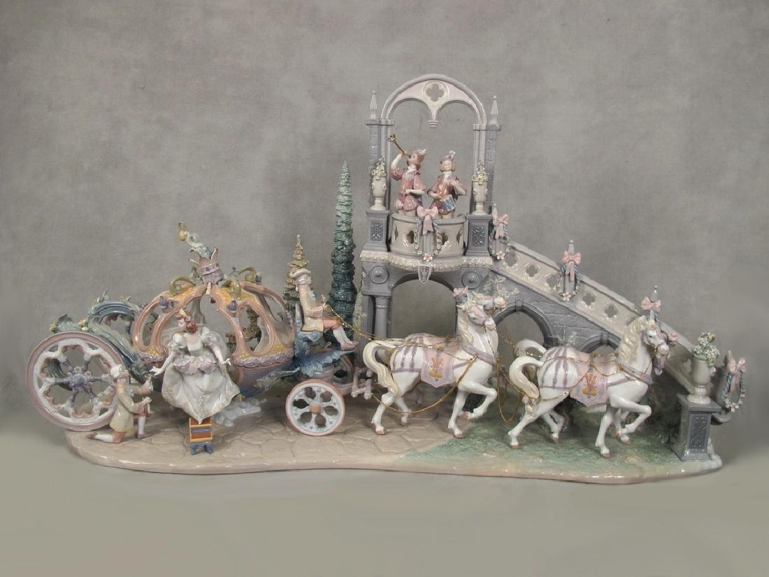 Huge Lladro Cinderella's Arrival Porcelain Figurine #