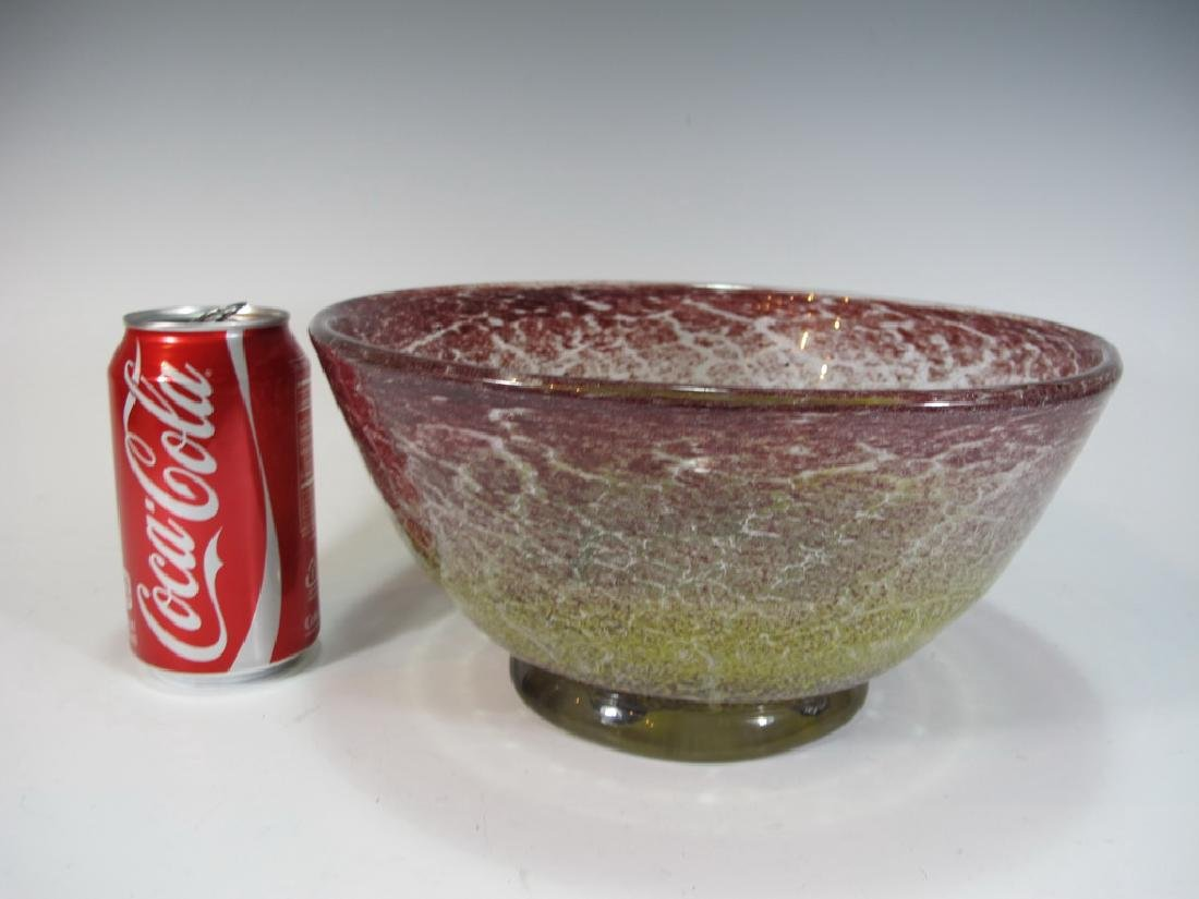 Probably Schneider glass bowl, unsigned