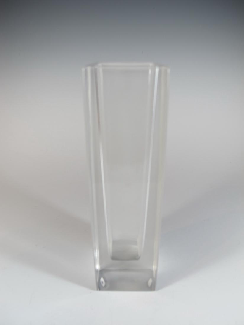 Vera Wang, Wedgwood glass vase, signed