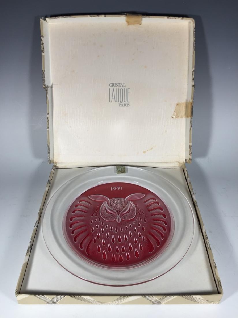 Lalique, Paris crystal plate, 1971