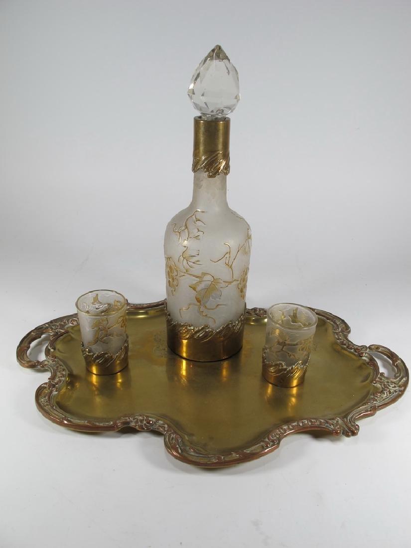 Victor SAGLIER, Paris, late 19th C liquor set