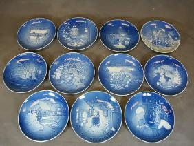 Antique set of 11 Royal Copenhagen plates