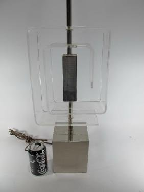 Vintage metal & Lucite table lamp