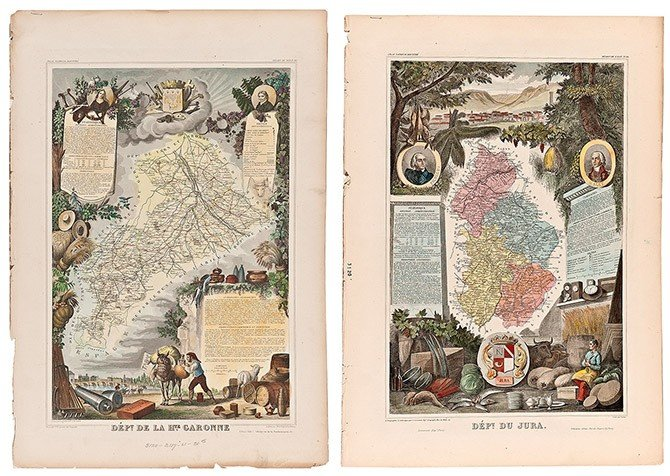 14: Two colored print of the map.