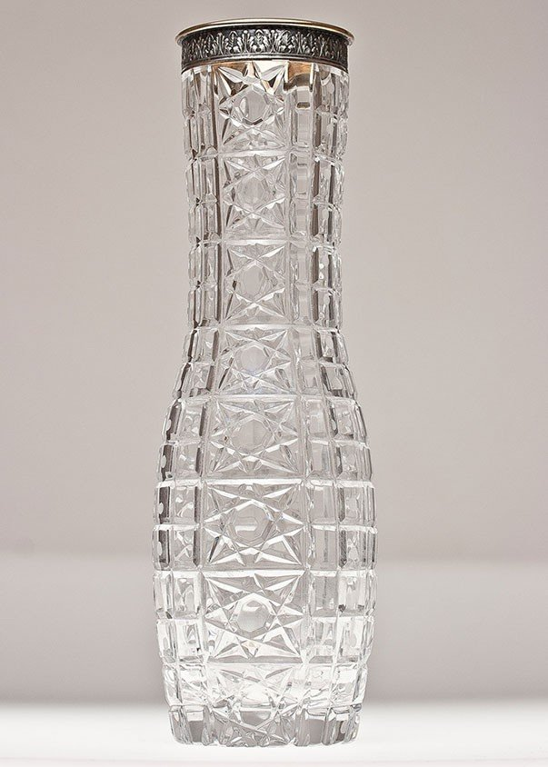 24: Russian, crystal cut vase.