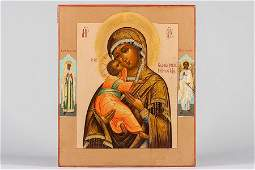 85 A RUSSIAN ICON VLADIMIR MOTHER OF GOD
