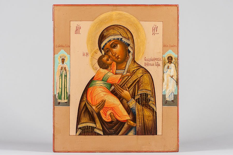 85: A RUSSIAN ICON VLADIMIR MOTHER OF GOD