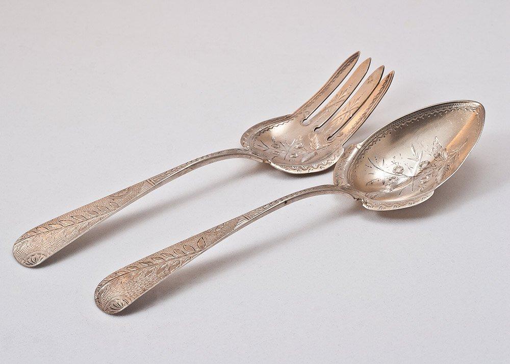 6: 19th C. American Silver Set by James Watt 203g
