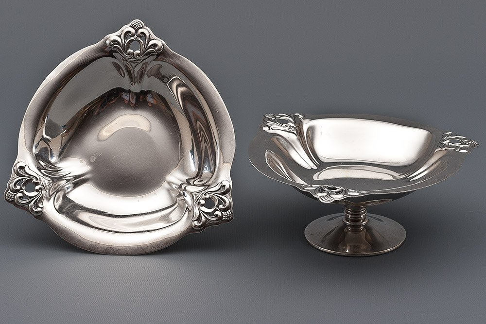 7: 2 Silver Ftd Bowls/Compotes by Royal Danish Sterling